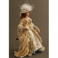Costumed Doll - Georgiana Cavendish, Duchess of Devonshire  -Sold